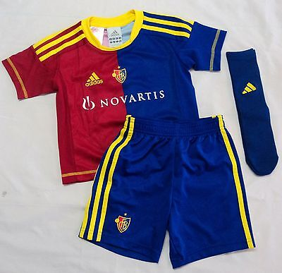 F.c.basel 2012/13 Home Mini Kit By Adidas Size 2-3 Years Brand New With Tags