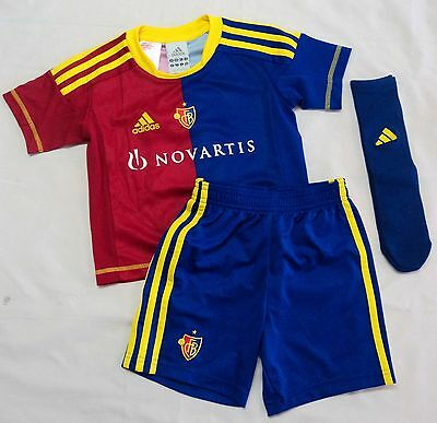 F.c.basel 2012/13 Home Mini Kit By Adidas Size 3-4 Years Brand New With Tags