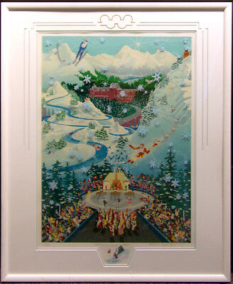 """Melanie Taylor Kent """"Let the Winter Games Begin""""with Remarque Hand Signed framed"""