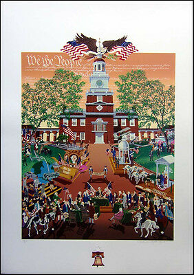 """Melanie Taylor Kent """"We the People Thanksgiving""""with REMARQUE Hand Signed"""