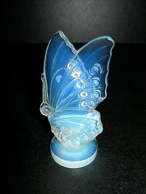 ~ ORGINAL 1920'S SABINO FRENCH ART GLASS BUTTERFLY FIGURINE FRENCH ART DECO NICE