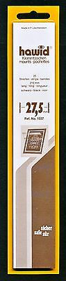 Hawid Stamp Mounts Size 27.5/210 BLACK Background Pack of 25