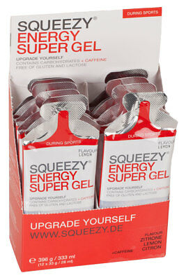 Squeezy Energy Super Gel Box 12 Beutel 33g
