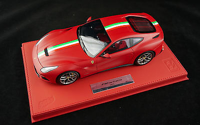 1/18 BBR FERRARI F12 MATT RED DELUXE RED LEATHER BASE LIMITED 20 PIECES  MR