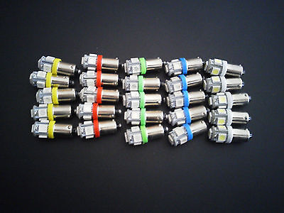 Fits VW Asst 25x MEGA BRIGHT 5 LED 12v Instrument Panel Clock SMD Light Bulb NOS