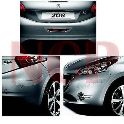 Genuine Peugeot 208 Clear Bumper Protective Cappings 5Pcs New Front & Rear