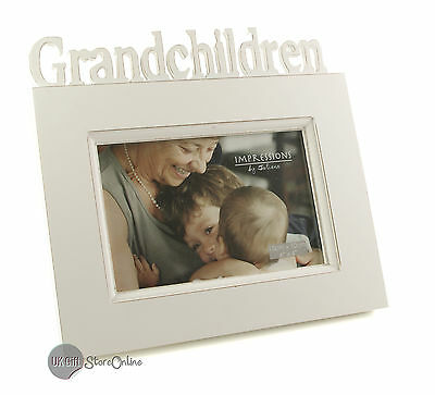 White Vintage Shabby Chic Grandchildren Photo or Picture Frame Gift FW992GC