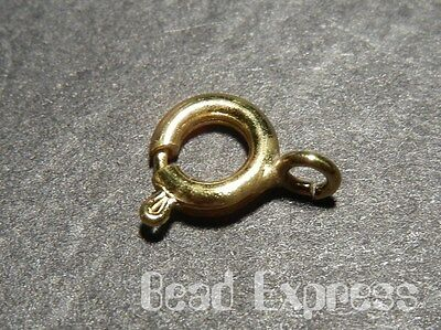 30 Pcs Gold Plated Brass Spring Ring Clasp Finding 6mm Wholesale (JC014)