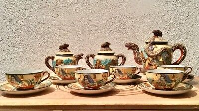 Antique Tea Set / Antiguo juego de té en porcelana Satsuma. VINTAGE
