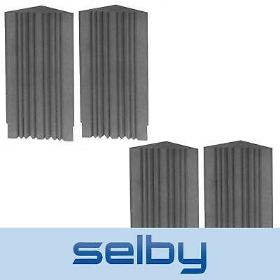 4 Pack of Extra Large Selby Dunlop Foam Sound Treatment Corner Bass Traps