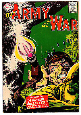 Our Army At War #61 4.0 Off-White To White Pages Silver Age