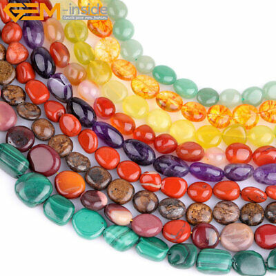 """7-9x10-12mm Natural Stone Beads For Jewelry Making 15"""" Wholesale Jewelry Beads"""
