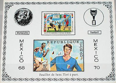 CHAD TSCHAD 1970 307-08 227D 227F DELUXE Soccer World Cup Fußball WM Football