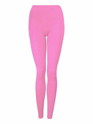 Girls Kids Leggings Plain New Full Length Dance Stretch Child Teens 2-14 Years