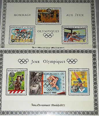 CHAD TSCHAD 1971 418-23 239-D-F DELUXE Olympics 1972 München Munich Gold ovp MNH