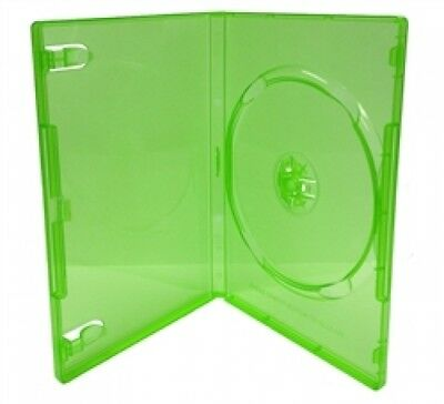 100 STANDARD Clear Green Color Single DVD Cases