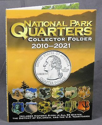 National Park Quarters 4 Color Coin Folder Whitman 2010-2021, Collector, #WF5129