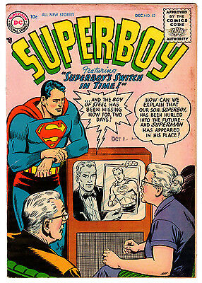 Superboy #53 4.0 Cream To Off-White Pages Silver Age