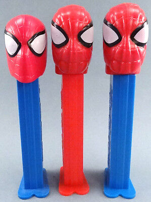 Great lot of 3 different Spider-man PEZ dispensers Marvel Comics