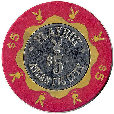 Playboy Club Atlantic City Coin Inlay $5 Casino Chip Collector FREE SHIPPING  *
