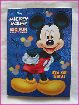 MICKEY MOUSE Disney ACTIVITY & COLOURING BOOK Im All Ears! Colour in / Color NEW
