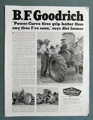 Orig 1953 B F Goodrich Tire  Ad Photo Endorsement Behm Bros. of Ft Atkinson WI