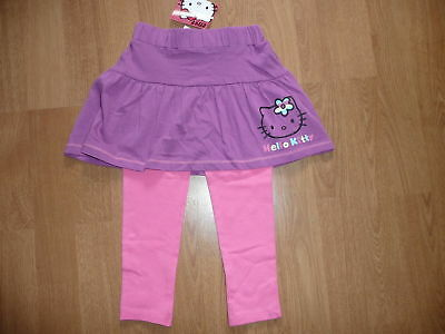BNWT HELLO KITTY Purple Skirt & Pink Leggings Set Age 18-24 months