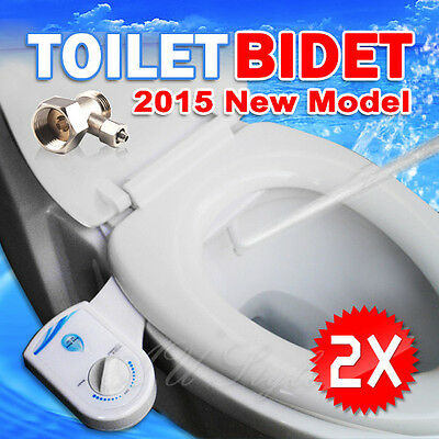 2 pcs OZ Clean Hydraulic Nature Water Wash Unisex Toilet Bidet