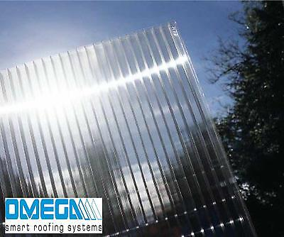 10mm Polycarbonate Roofing Sheets - Clear, Bronze & Opal, Various Sizes TAPED