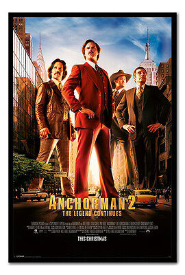 Framed Anchorman 2 One Sheet Poster Ready To Hang - Choice Of Frame Colours