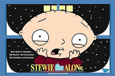 Family Guy Poster ~ Stewie Griffin Home Alone