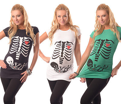 e7bfc55eea5e9 Skeleton-Adorable Slogan Cotton Printed Maternity Pregnancy Top T-shirt  2003/16