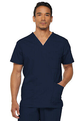 Navy Dickies EDS Signature Men 's V Neck Scrub Top 81906 NVWZ