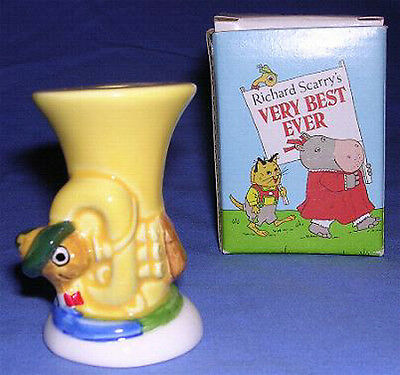 Richard Scarry's Lowly Worm 1st Baby Birthday Ceramic Candle Holder Goebel 1980