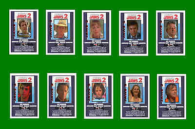 Jaws 2  -  Film Character Postcards Set # 1