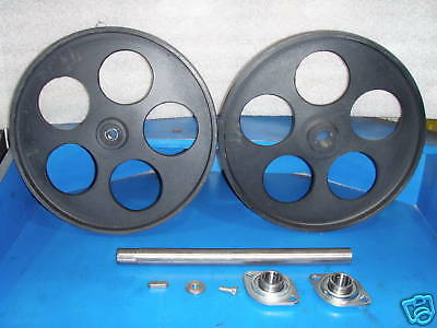"Bandsaw Wheels Bandwheels 16"" With Shaft/bearings New Real Bandwheels With Tire"