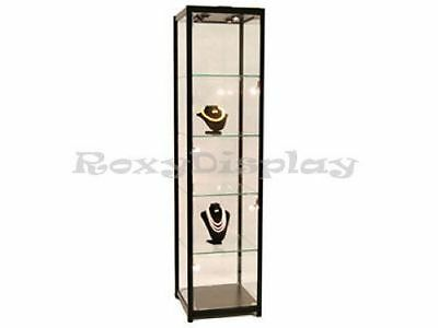Full Vision Tower Showcase Display Store Fixture SC-TW20BK Assembled with Lights