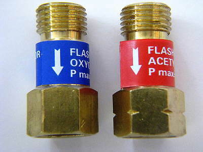 Acetylene//Oxygen Check Valves Flashback Arrestor Torch Pressures Welding Re X6M6