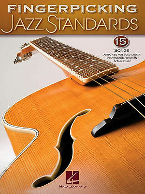 Fingerpicking Jazz Standards For Solo Guitar 15 Songs! Tab Book NEW!