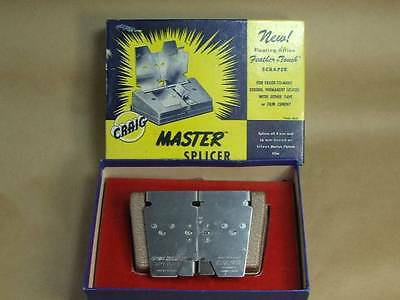 Vintage Craig Master Splicer S-3 for 8 mm and 16 mm film editing Kalart In BOX
