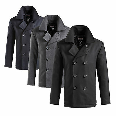 SURPLUS™ PEA COAT Herren US Marine Woll Mantel Caban Colani