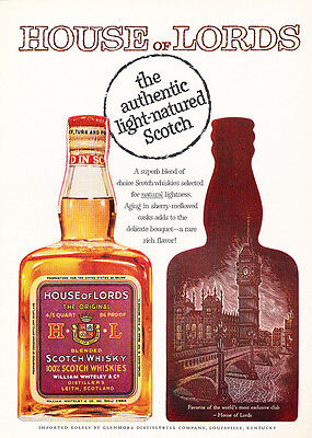1958 House of Lords Scotch Whisky  - Original Advertisement Print Ad J167