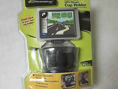 Bracketron Uch-102-Bl Gps Mount Cup Holder Adjustable Base Expands Universal New