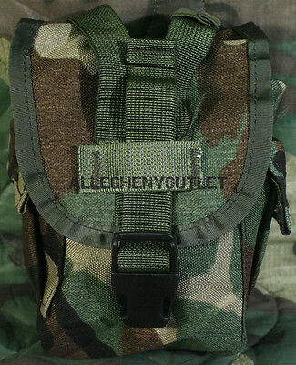 US Military 1 QT MOLLE Woodland Camo CANTEEN COVER Carrier Utility Pouch MINT
