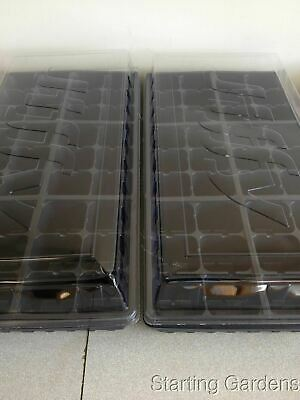 Seed Starting Kit,  2 Seed Trays, 2 Inserts, 2 Dome Lids, Seedling Starter Kit