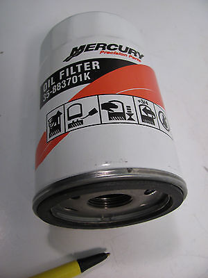 Mercury Quicksilver 35-883701K01 Oil Filter Spin-On Mercruiser  35883701K01