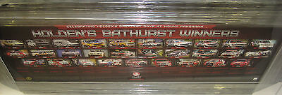 Holden History Of Bathurst Wins Limited Edition Poster Framed - Brand New