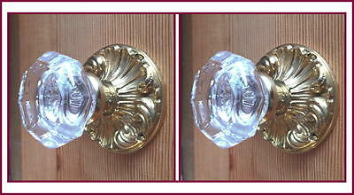 World Class Old Town Crystal Custom Knob Sets-Solid Brass PLUS double set screws