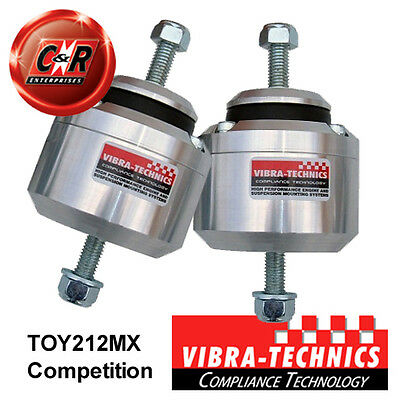 2 x Toyota Chaser Vibra Technics Engine Mounts 92-96 1JZGTE, 2JZGE Comp TOY212MX