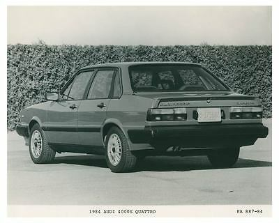1984 Audi 4000S Quattro Automobile Photo Poster zch3698
